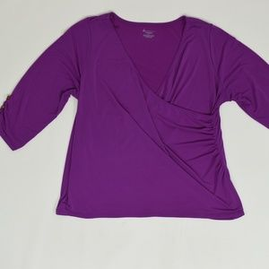Lane Bryant Plus 22/24 Purple   Blouse Polyester S